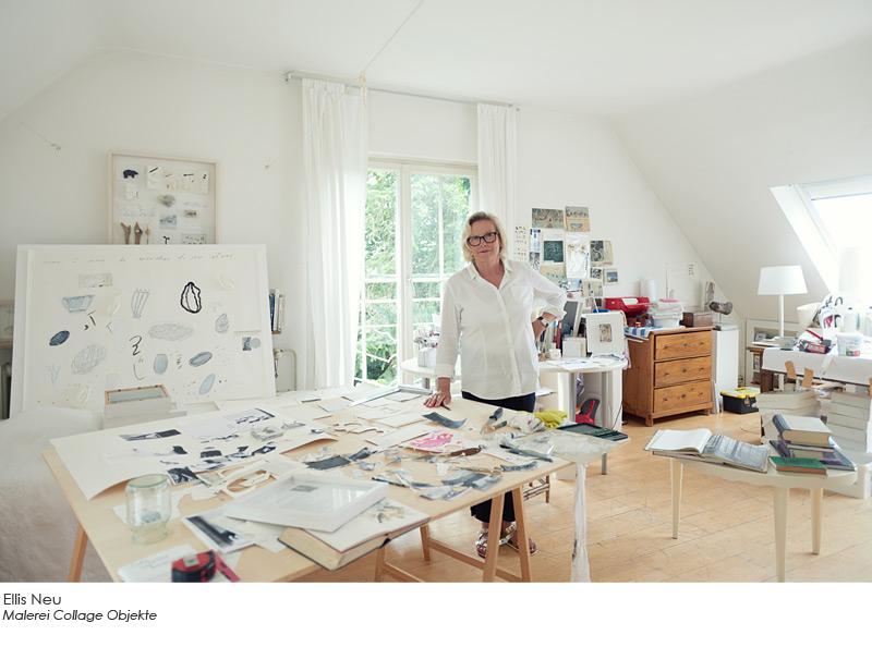 Ellis Neu - Malerei Collage Objekte