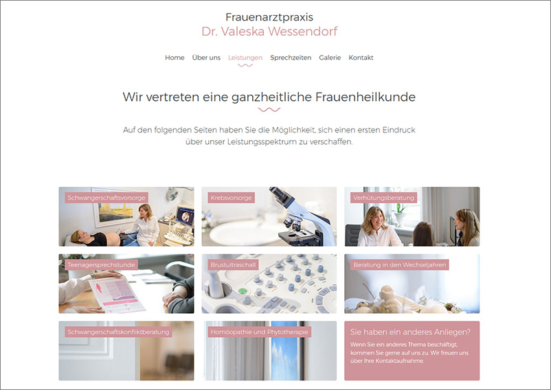 praxis wessendorf webseite