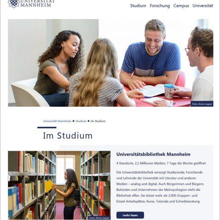 Uni Mannheim Webseite